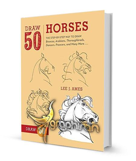 کتاب آموزش نقاشی انواع اسب