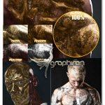 دانلود اکشن فتوشاپ افکت پوست فلزی Forge Photoshop Actions