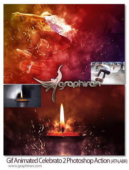 اکشن فتوشاپ ساخت انیمیشن جرقه زدن