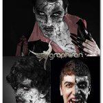 اکشن فتوشاپ افکت صورت ترسناک هالووین Jigsaw Halloween Action