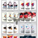 دانلود 10 پوستر گرافیکی مینیمال لایه باز Minimal Futuristic Flyer Bundle