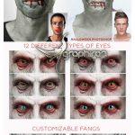 اکشن فتوشاپ تبدیل چهره به آدم خوار Nosferatu Photoshop Action