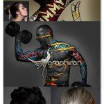 اکشن فتوشاپ ساخت طرح روی بدن Ornament Tool Photoshop Action