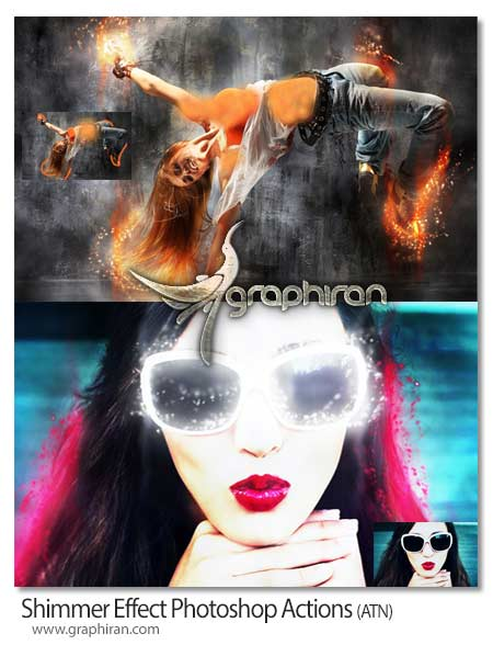Shimmer Effect Photoshop Actions