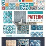 دانلود مجموعه پترن های کاشی کاری وکتور TILE Pattern Bundle