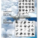 دانلود 88 براش فتوشاپ ابر حرفه ای Ultimate Clouds Brushes Collection