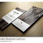 دانلود کارت ویزیت آماده با طرح چوب PSD لایه باز - شماره 422