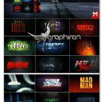 دانلود پروژه افترافکت 18 افکت متن انیمیشن سینمایی Title Fx Kit v.1