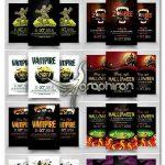 دانلود ۱۰ پوستر هالووین PSD لایه باز Halloween Flyer Bundle Vol:02