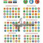 دانلود مجموعه بیش از 1500 آیکون فلت دایره ای Material Icons Bundle