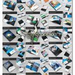 دانلود ۲۰ طرح آماده بروشور تبلیغاتی لایه باز فرمت های PSD، AI و EPS