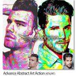 اکشن فتوشاپ ساخت طرح آبسترکت حرفه ای Advance Abstract Art Action