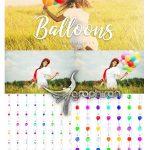 دانلود مجموعه 50 عکس بادکنک PNG برش خورده Balloons Overlays