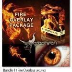 دانلود عکس های پوششی شعله آتش بدون بک گراند Bundle 11 Fire Overlays