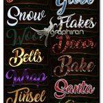 دانلود ۱۵ استایل فتوشاپ کریسمس Christmas Layer Styles