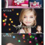 دانلود 16 عکس پوششی بوکه ستاره های رنگی Color Stars Bokeh Photo Overlays