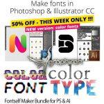 Fontself Maker Bundle پلاگین فتوشاپ و ایلوستریتور تبدیل آیکون و شکل به فونت