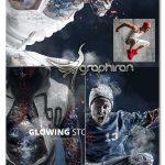 اکشن فتوشاپ سنگ درخشنده Glowing Stone Photoshop Action