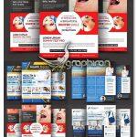 دانلود 4 طرح تراکت تبلیغاتی با موضوع پزشکی و سلامت PSD لایه باز