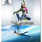 اکشن فتوشاپ ساخت افکت حرکت دنباله دار Motion Trail Photoshop Action