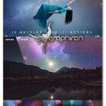 دانلود تصاویر پوششی آسمان شب پر ستاره Night Sky Starry Overlays + Actions