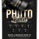 دانلود تراکت استودیو عکاسی PSD لایه باز Photo Studio Flyer Template