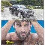 اکشن فتوشاپ افکت بارش باران شدید Rain Photoshop Action