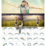 دانلود ۳۵ عکس برش خورده رنگین کمان با کیفیت Rainbow Overlays