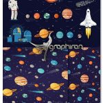 دانلود المان و پترن وکتور موضوع فضا Space Exploration Set + Pattern