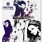 اکشن فتوشاپ افکت پاشیدن رنگ وکتور Vector Splash Photoshop Action