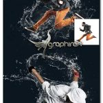 اکشن فتوشاپ ایجاد طرح پاشیدن آب روی عکس Water Splash Action