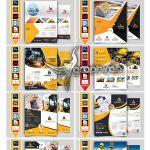 دانلود ۱۰ تراکت شرکت ساختمانی لایه باز Construction Flyer Bundle