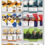 دانلود 10 تراکت تبلیغاتی حمل و نقل لایه باز Freight Flyer Bundle