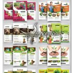 دانلود ۱۰ تراکت باغبانی و کشاورزی لایه باز Garden Service Flyer Bundle