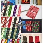 دانلود 100 پترن فتوشاپ و وکتور کریسمس Christmas Seamless Patterns