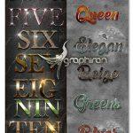 مجموعه ۳۰ استایل متن ۳ بعدی فتوشاپ Bundle 3D Text Styles D35-D37