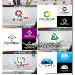 دانلود مجموعه 446 لوگوی تجاری و حرفه ای آماده وکتور لایه باز