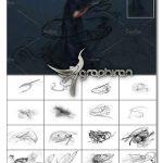 دانلود مجموعه ۲۳ عکس پوششی خطوط مشکی ۴K Evil Hug Overlays