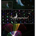 دانلود ۴۰ عکس پوششی نورهای انتزاعی ۴K Light Entity Overlays