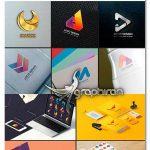 دانلود پک 984 شکل برای طراحی و ساخت لوگو و آرم Modern Logo Shape