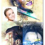 اکشن فتوشاپ افکت صورت انتزاعی Abstract Face Photoshop Action