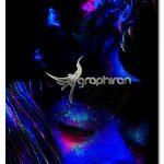 اکشن فتوشاپ ساخت افکت رنگ های بلک لایت Black Light Photoshop Action