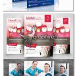 دانلود ۳ نمونه طرح آماده تراکت دندان پزشکی PSD لایه باز