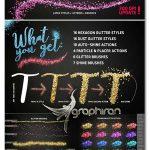 اکشن، براش و استایل فتوشاپ ذرات درخشان GLITTER PRO Styles, Actions, Brushes