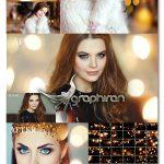 دانلود 60 عکس پوششی بوکه های طلایی Gold Bokeh Photo Overlays
