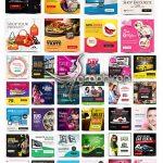 دانلود 50 قالب آماده بنر اینستاگرام Instagram Template Banners