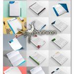 دانلود مجموعه ۱۶ طرح آماده سربرگ لایه باز PSD، EPS، AI و DOC