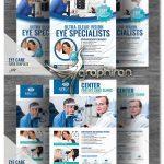 دانلود 2 نمونه طرح آماده تراکت تبلیغاتی چشم پزشکی PSD لایه باز