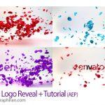 پروژه آماده افتر افکت ریختن گلبرگ روی لوگو Petals Logo Reveal