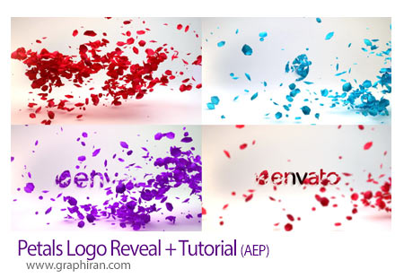 پروژه آماده افتر افکت ریختن گلبرگ روی لوگو